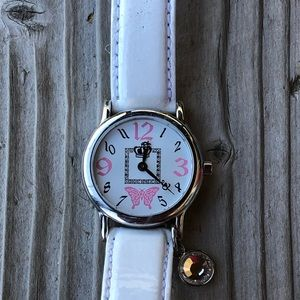 Sweet Juicy Couture White Patent Watch w/ Charm!
